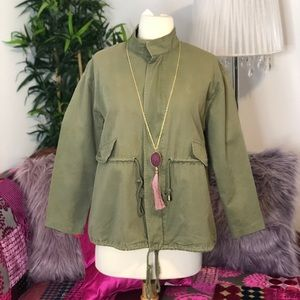 Jackets & Blazers - Olive Green Jacket